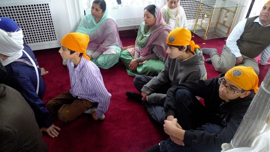 Isher and Gyan also joined to hear their buddy give a demo on the Rabab.
