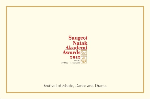 SNA Awards 2012 Programme Card I