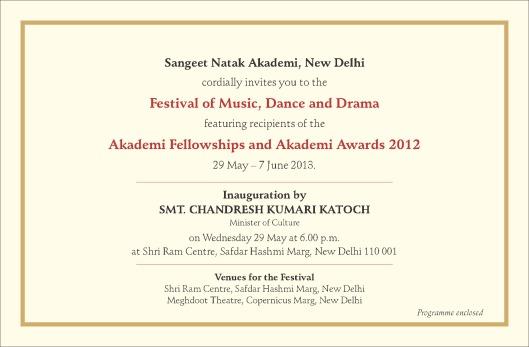 SNA Awards 2012 Programme Card II