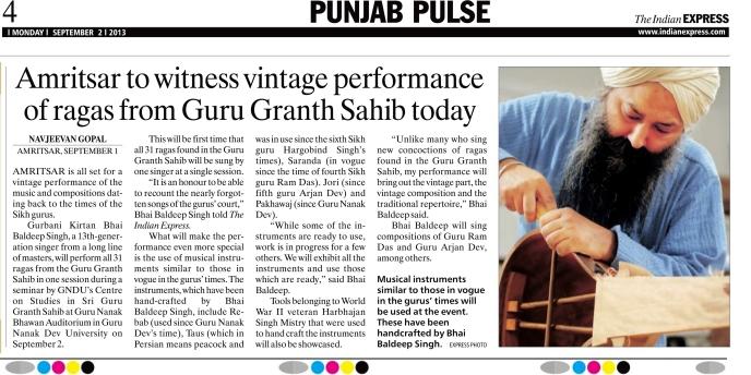 2013 09 02 Indian Express Navjiwan Gopal